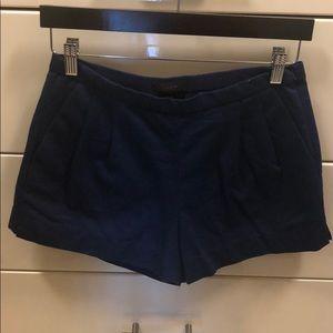 J.Crew navy pleated shorts